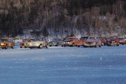 racing on otsego lake - wintercarnival